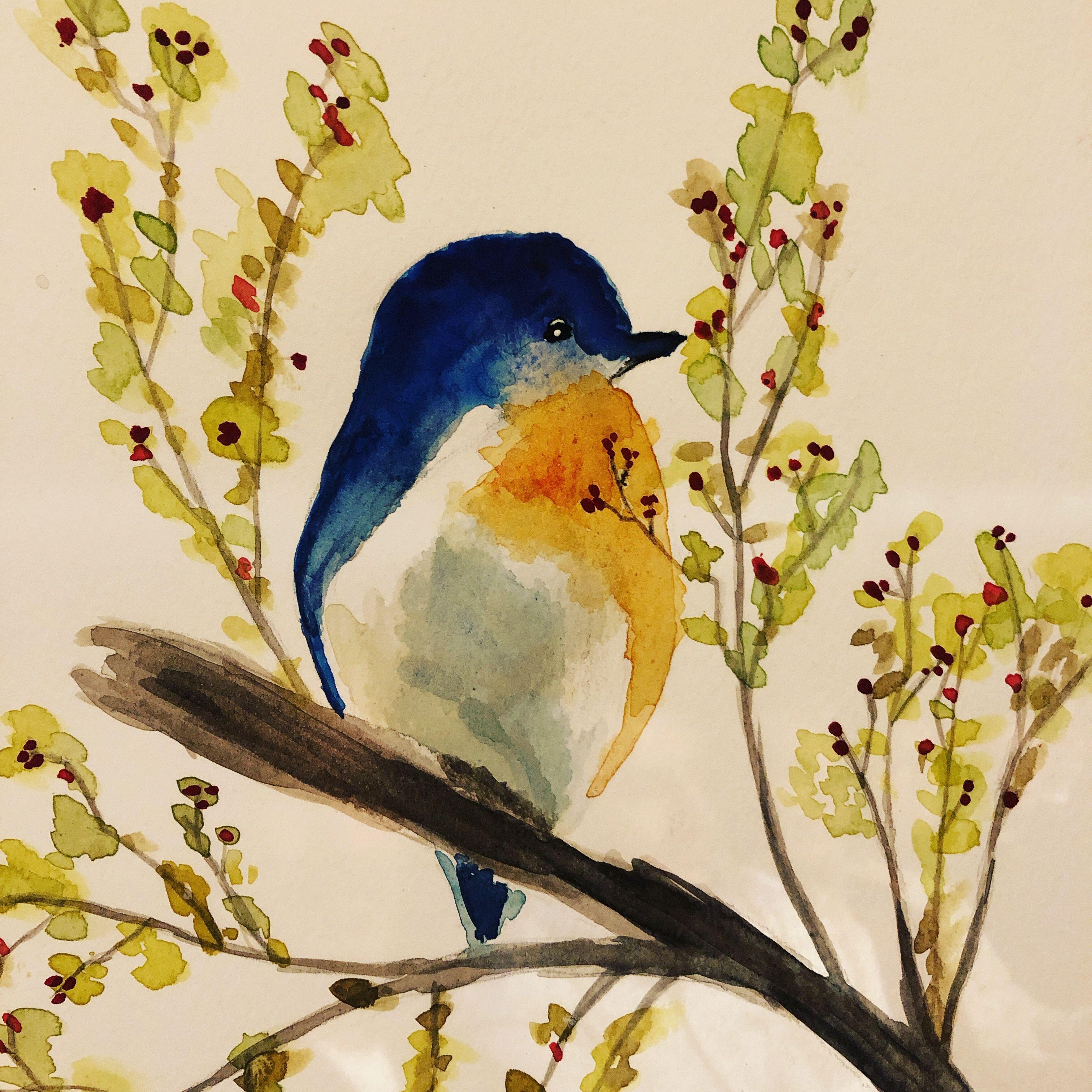 Watercolour Bird In 2019 Watercolor Bird Birds Painting