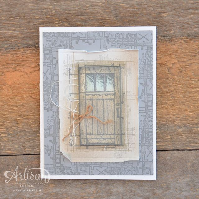 Stampin' Dolce: A card inspired by Architecture - GDP066