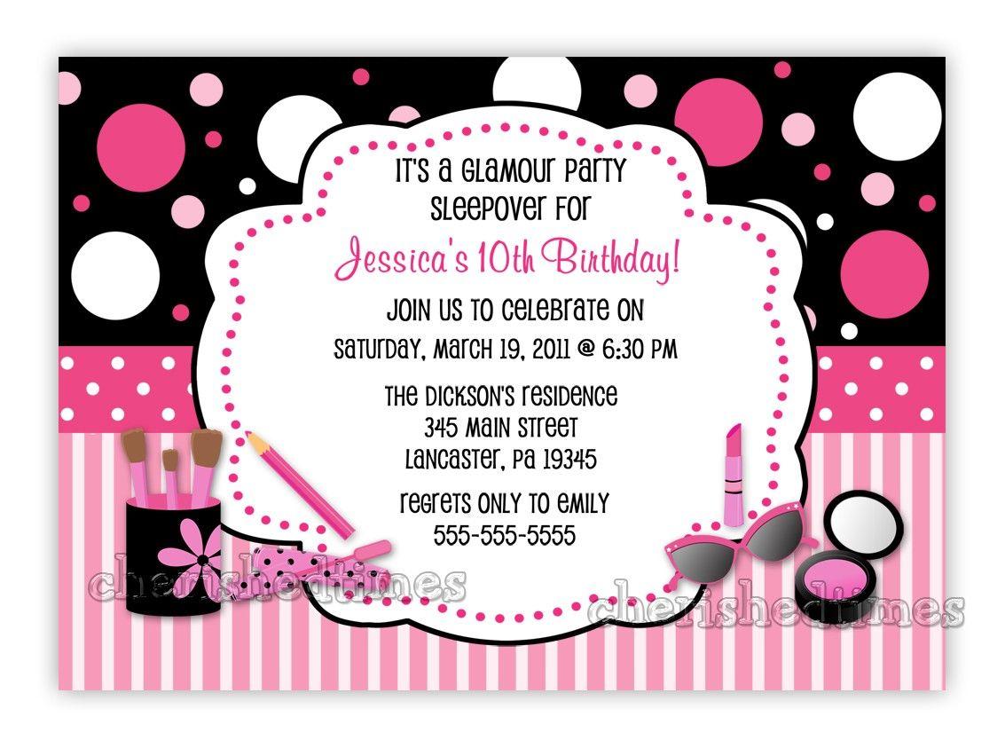 10th birthday invitation wording for