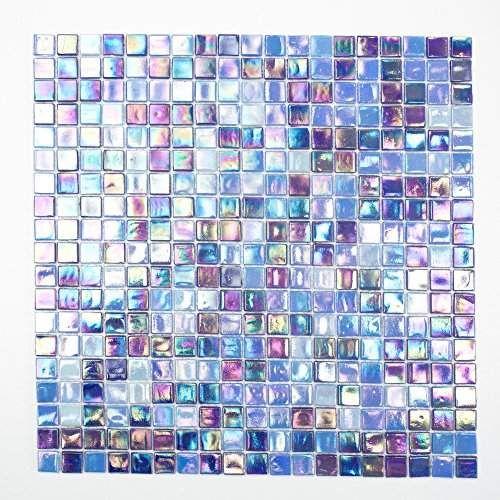 Fliesen Mosaik Mosaikfliese Glas Blau Perlmutt Quadrat Bad Küche 4mm Neu  #172 | Fliese Mosaik | Pinterest