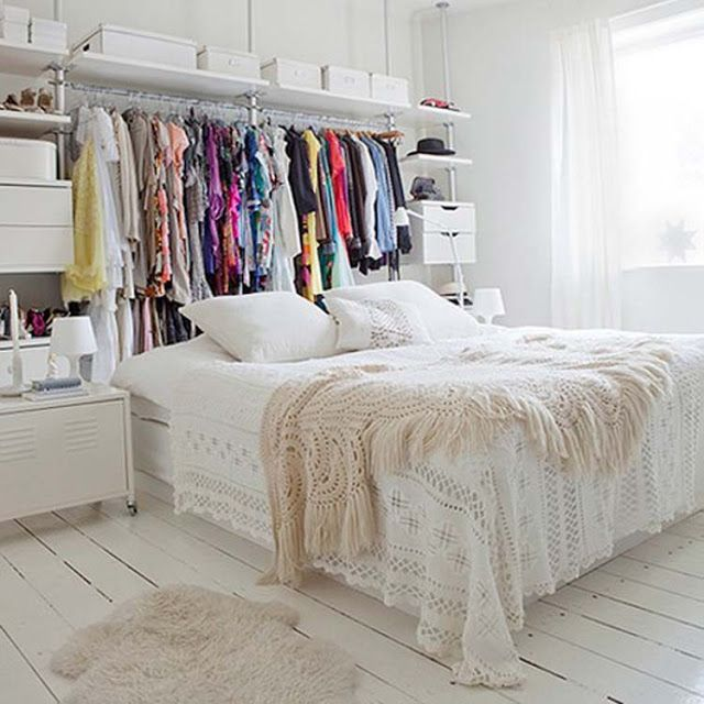Do You Have A Lot Of Clothes To Here Are 9 Unique Simple Ways Your Without Closet Storage Behind The Bed