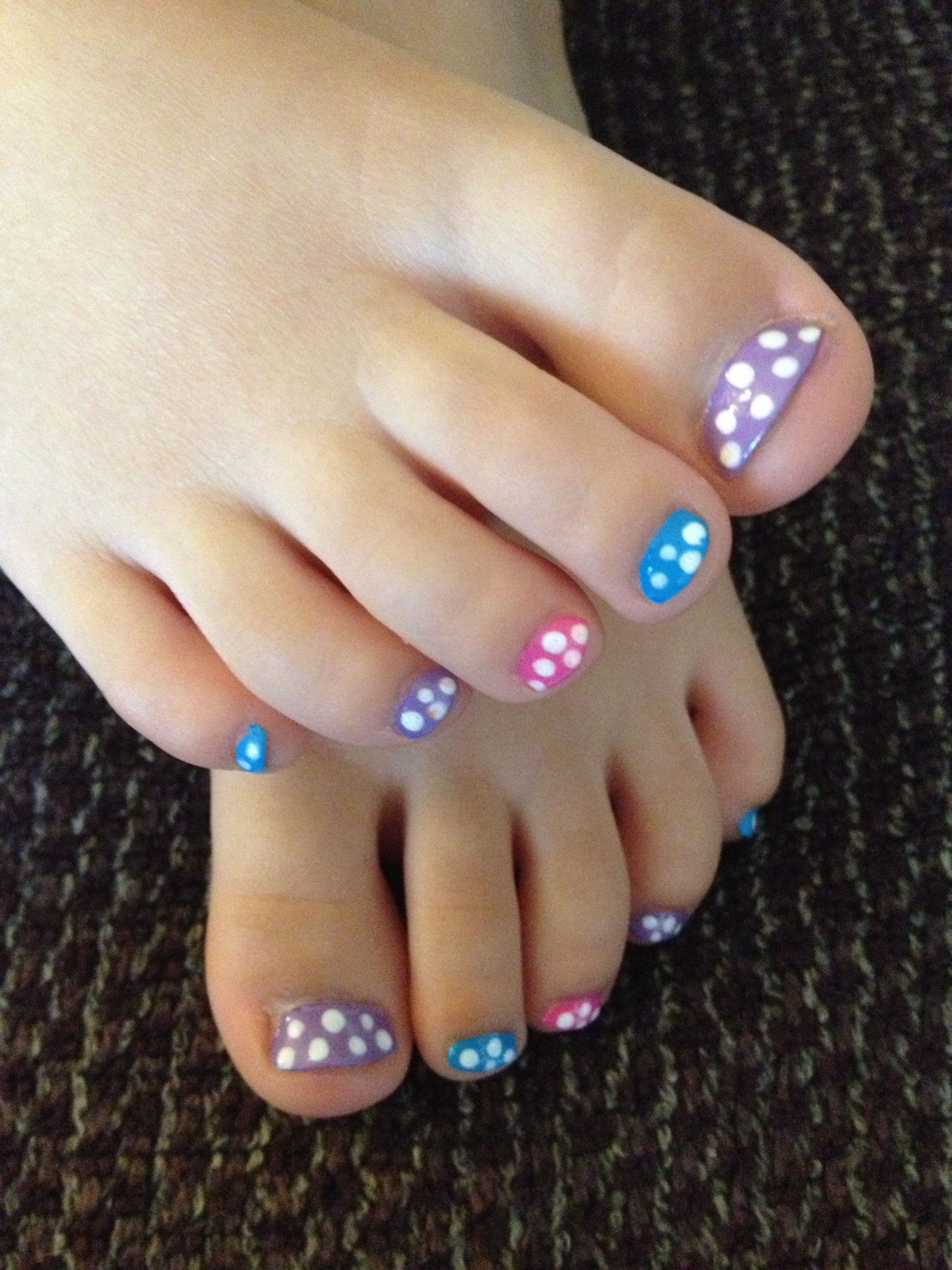 Cute Nails For My Girls Little Girl Nails Baby Girl Nails Pink Toe Nails