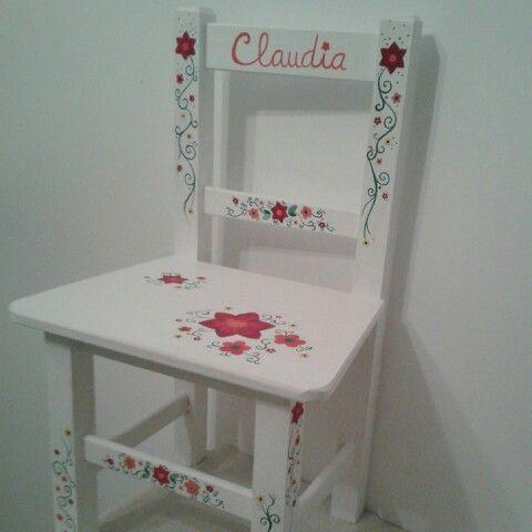 pintar silla infantil madera