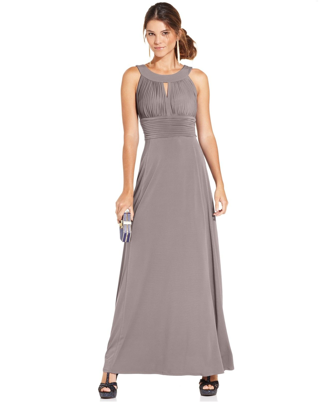 fad0b0871ed Sangria Sleeveless Keyhole Gown - Maxi Dresses - Women - Macy s