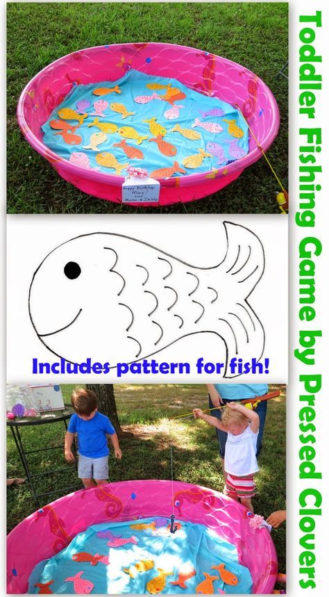 Toddler Birthday Party Fishing Game 2 year olds 3 year olds 4