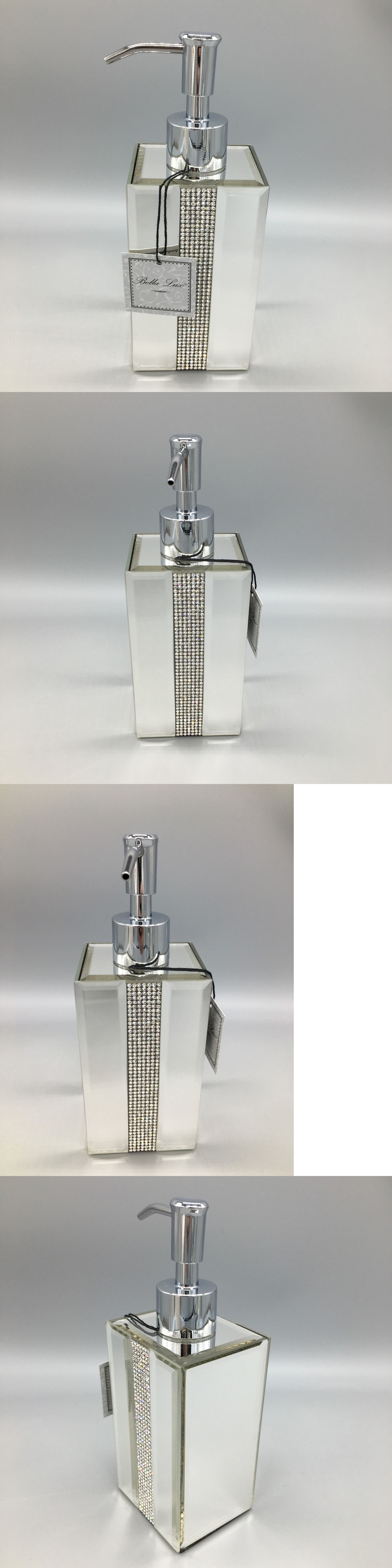 Soap Dishes and Dispensers Bella Lux Mirror Rhinestone