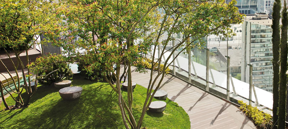 Roof Garden Zinco Green Roof Systems With Images Rooftop Garden Green Roof System Circular Lawn