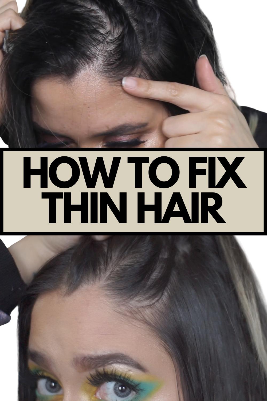 How To Fix Thin Hair In 2020 Hair Density Hair Serum Hairstyles For Thin Hair
