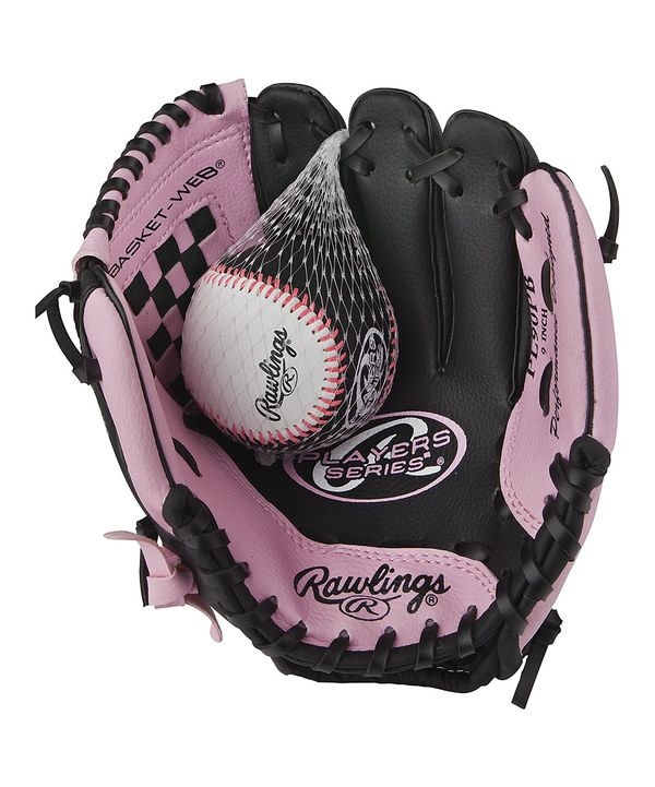 b1cbcae6faef59 Take a look at this Pink Players Series 9'' T-Ball Glove & Ball - Kids on  zulily today!