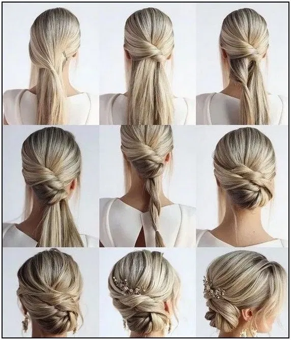 136 Instant Bun Tutorials For Last Minute Office Calls 60 Cynthiapina Me Diy Wedding Hair Wedding Hairstyles Tutorial Easy Homecoming Hairstyles