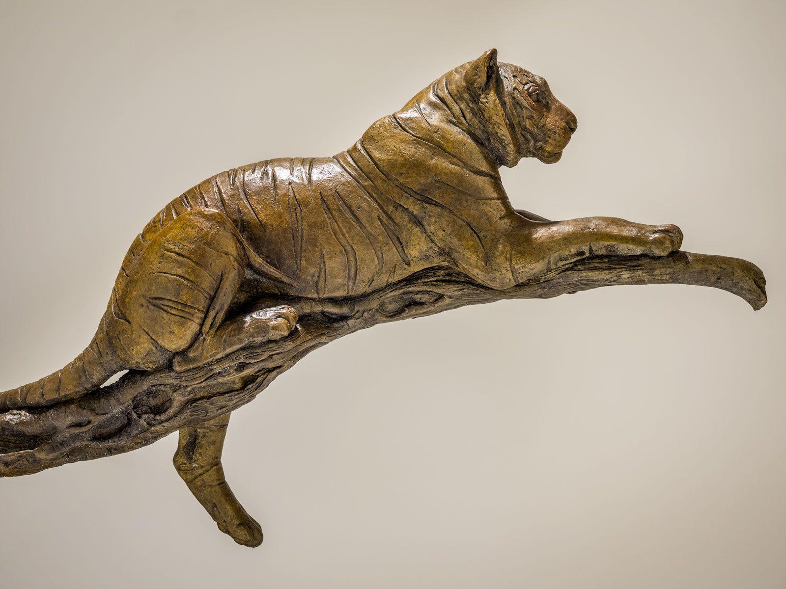 Bronze Tiger Sculpture By Artist Nick Mackman Artist