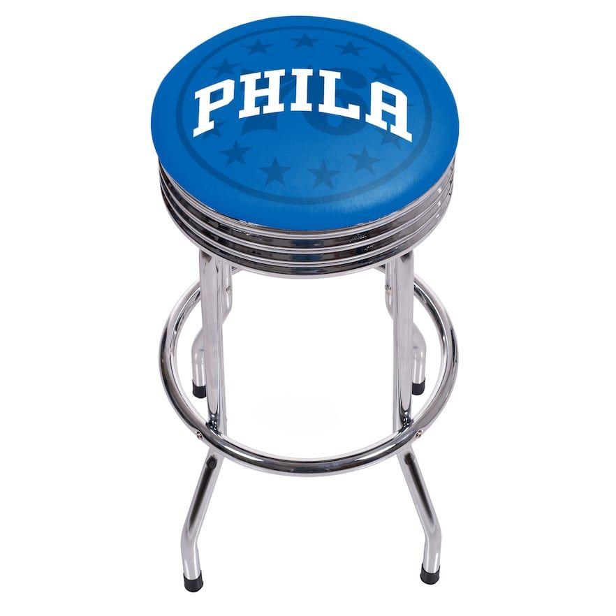 Philadelphia 76ers Padded Ribbed Bar Stool