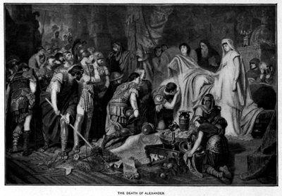 Representación de la muerte de Alejandro Magno pintada por Karl von Piloty en 1886 (Wikimedia commons)