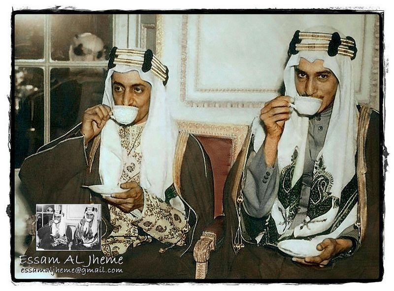 الملك فيصل بن عبدالعزيز والملك خالد بن عبدالعزيز Egypt History National Day Saudi Great King