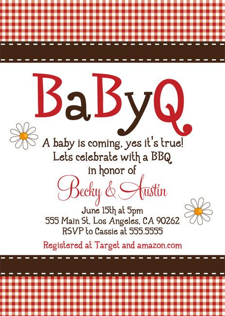 Printable Baby Q Baby Shower Invitation | BBQ Shower | FREE Thank ...