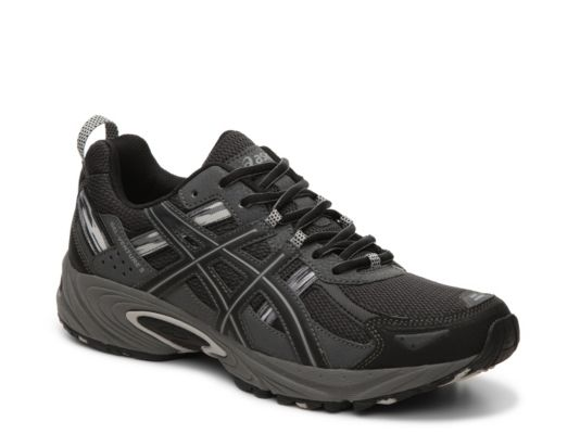 Men's Men ASICS GEL-Venture 5 Trail Running Shoe -Black/Charcoal - Black/Charcoal