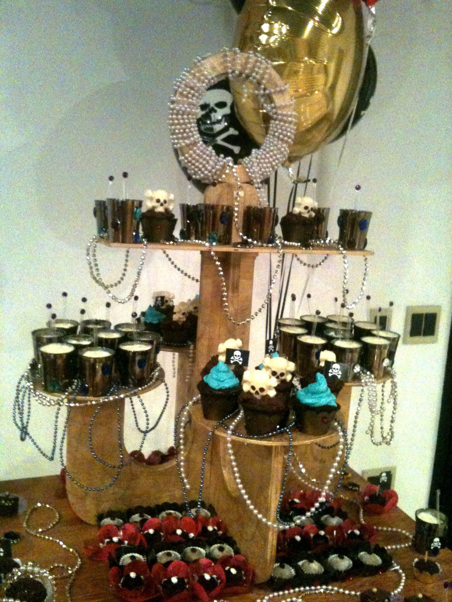 detalhes da decoração festa do pirata