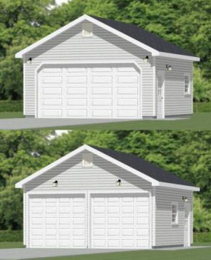 20x20 2 Car Garage 20x20g4 400 Sq Ft Excellent Floor Plans Building A Garage Garage Building Plans Garage Design