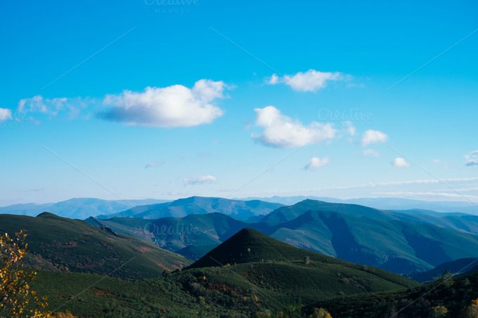 blue #sky   view from the top of a mountain by ApertureVintage on Creative Market