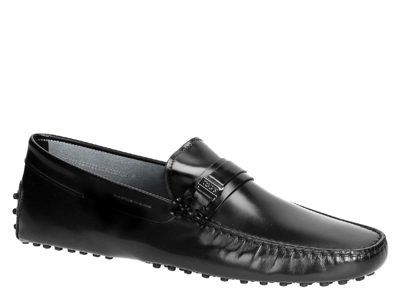 b2fdab24abc Tod s men s driving moccasins in black Shiny calf leather - Italian Boutique  €245