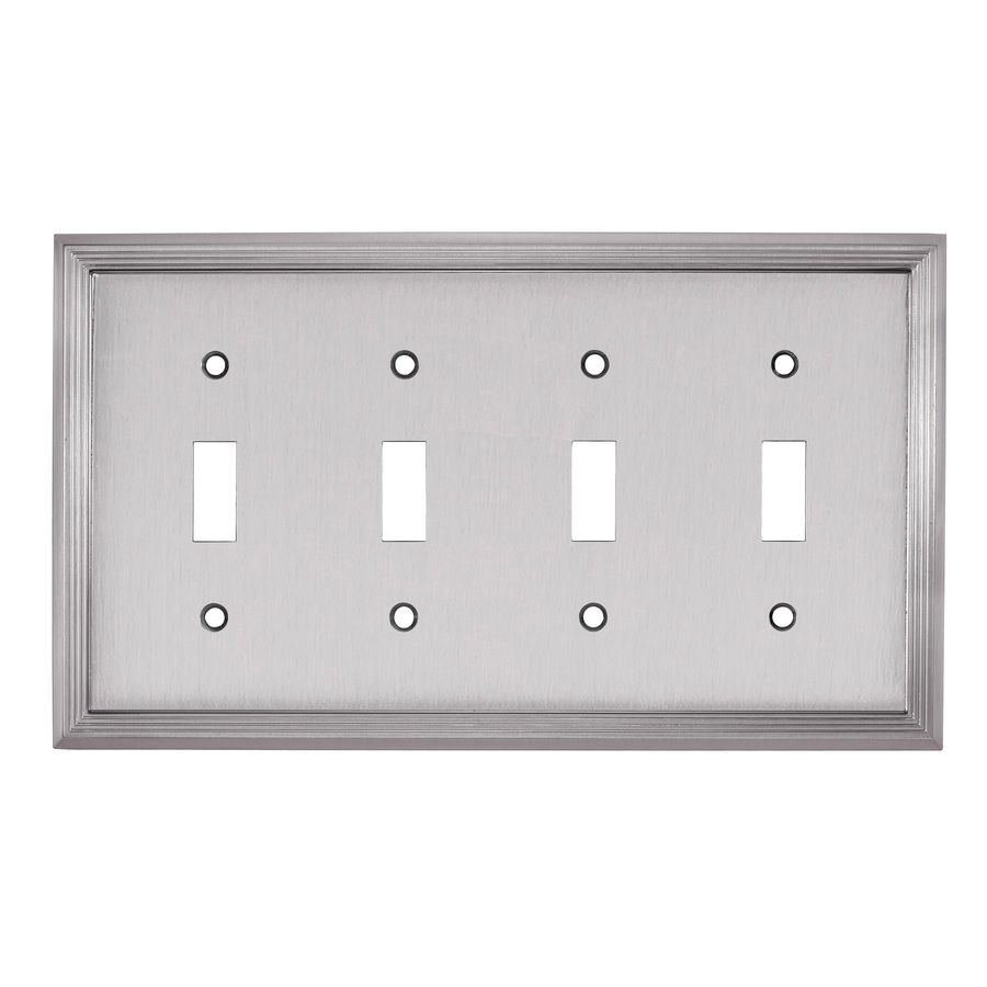 Allen Roth Market 4 Gang Satin Nickel Quad Wall Plate Z1808t4 Bni In 2020 Plates On Wall Allen Roth Wall