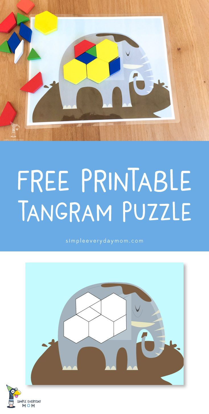 tangram puzzles | learning activities for kids | free printables ...