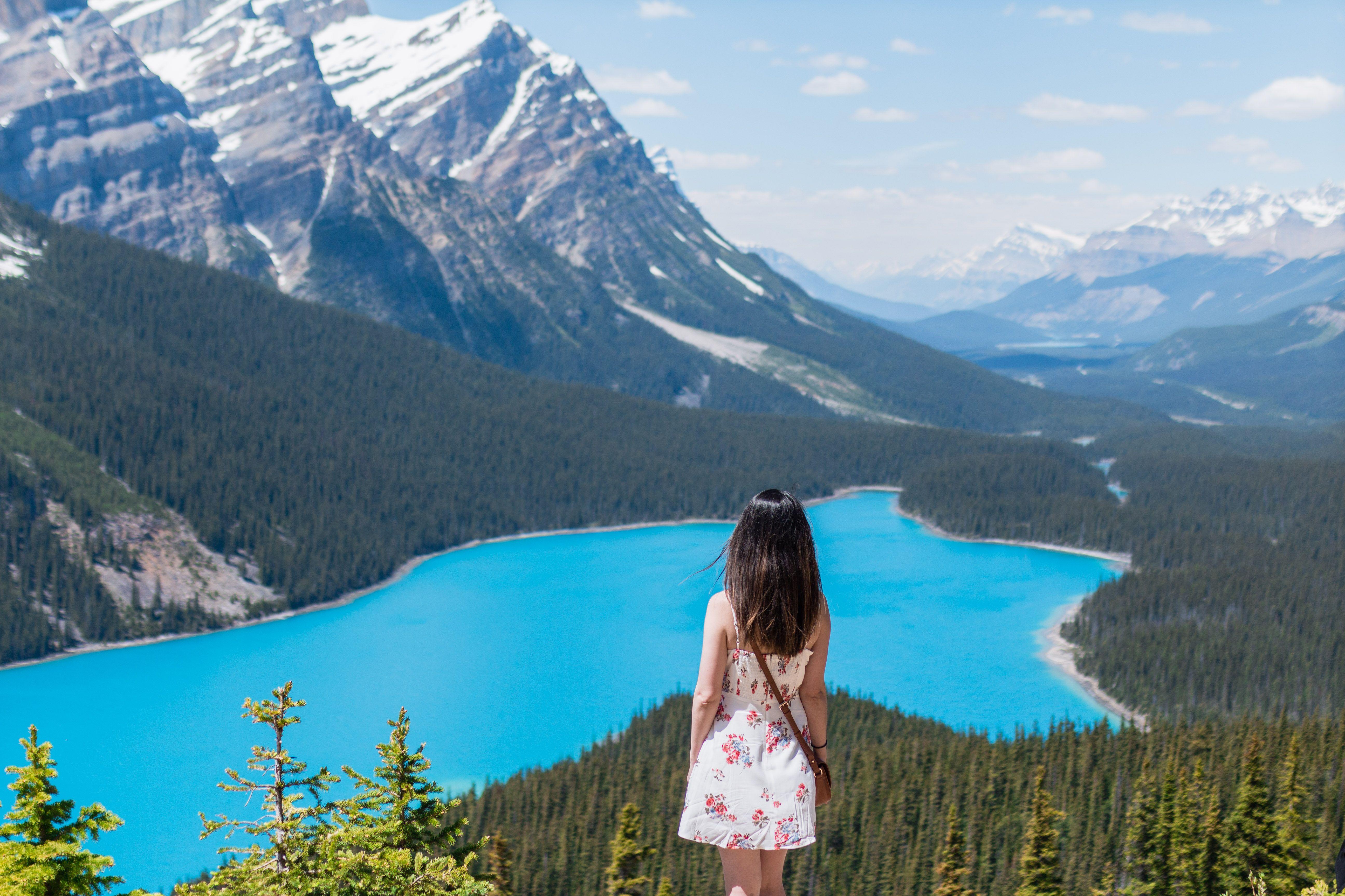Download wallpapers 4k, Lake Louise, summer, Banff