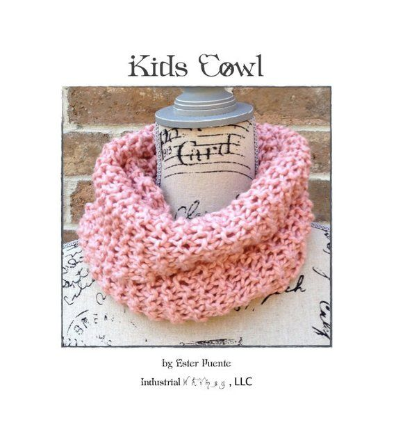 Pattern Kids Infinity Scarf Pattern Kids Cowl Beginner Knitting