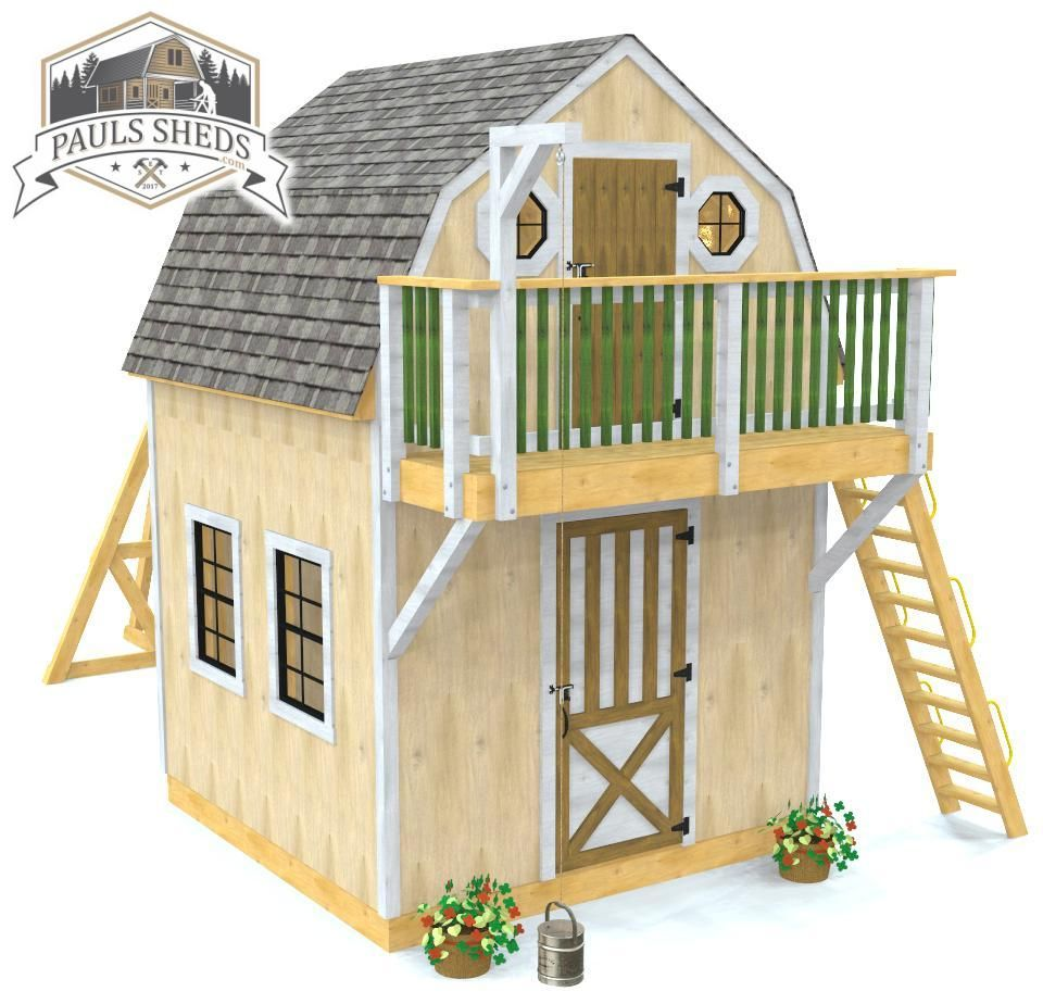 Playhouse Shed Plan Play Houses Diy Shed Plans Shed Plan