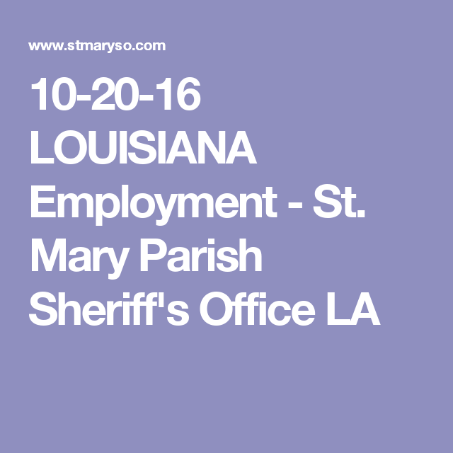 10-20-16 LOUISIANA Employment