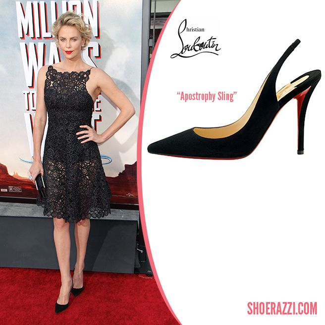 promo code 94dd6 daed7 Charlize Theron in Christian Louboutin Apostrophy Sling ...