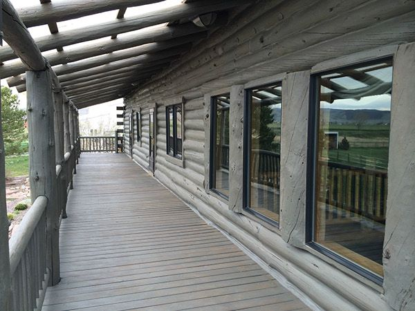 Image Result For Grey Log Cabin Stain Cabin Exterior