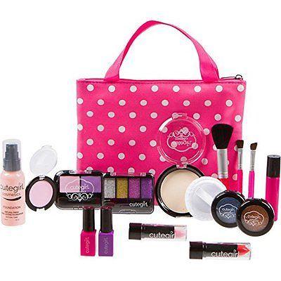 Pretend Makeup Play Deluxe Set For Children By Cutegirl Cosmetics Makyaj Sac Modeli Fikirleri Calisma