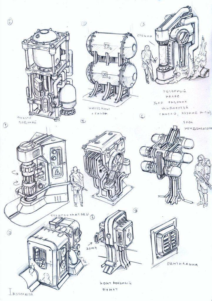 Env Obj 93 Robot Concept Art Environment Concept Art Sci Fi Props