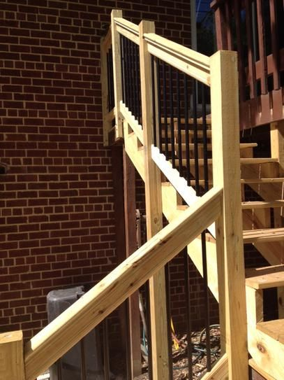 Weathershield 6 Ft Pressure Treated Stair Railing Kit With Black | Pressure Treated Stair Handrail | Sturdy | Step | Deck Rail | Long Deck | Treated Lumber