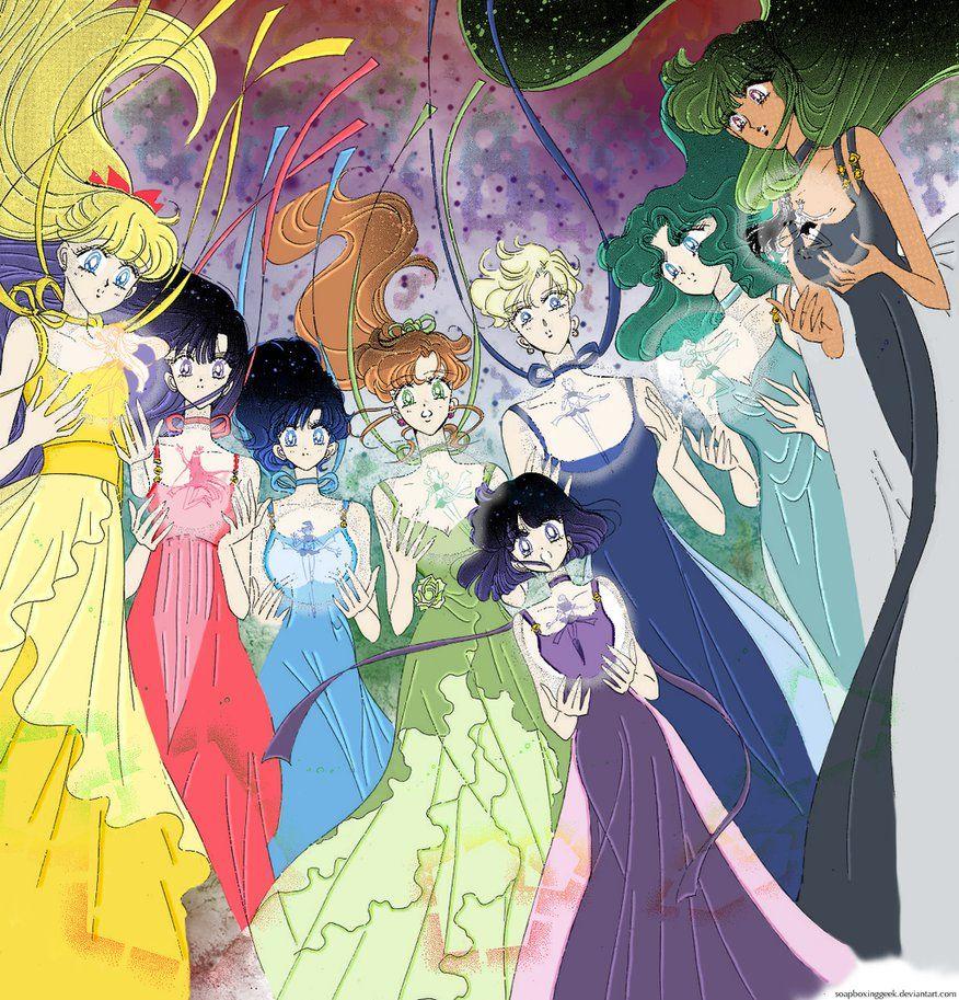 Guardian Senshi Princesses Manga Colouring by soapboxinggeek