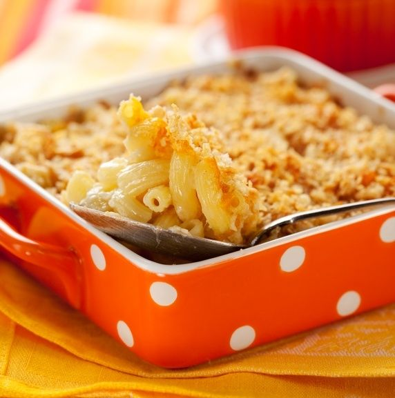 Baked Macaroni and Cheese with Bread Crumb Crust | Work It, Mom!