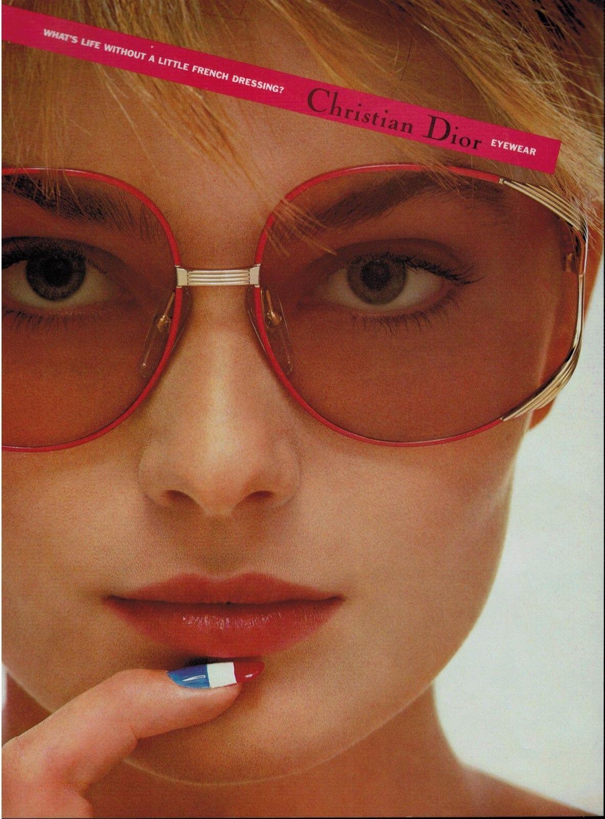 6077dede6bb070 1985 CHRISTIAN DIOR EYEWEAR   PAULINA PORIZKOVA   Vintage Eyewear ...