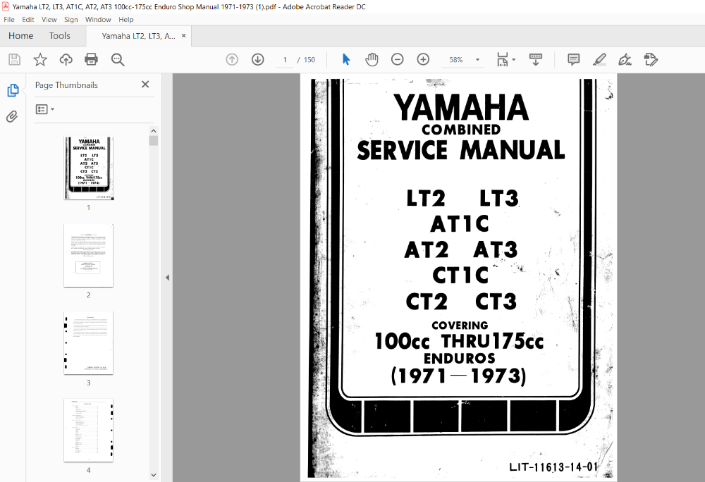 Yamaha Lt2 Lt3 At1c At2 At3 100cc 175cc Enduro 1971 1973 Service Repair Manual Repair Manuals Ignition Timing Repair
