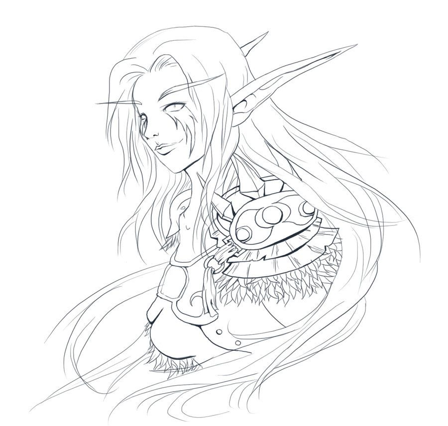 World Of Warcraft Elf Coloring Pages World Of Warcraft Coloring Books Skull Coloring Pages