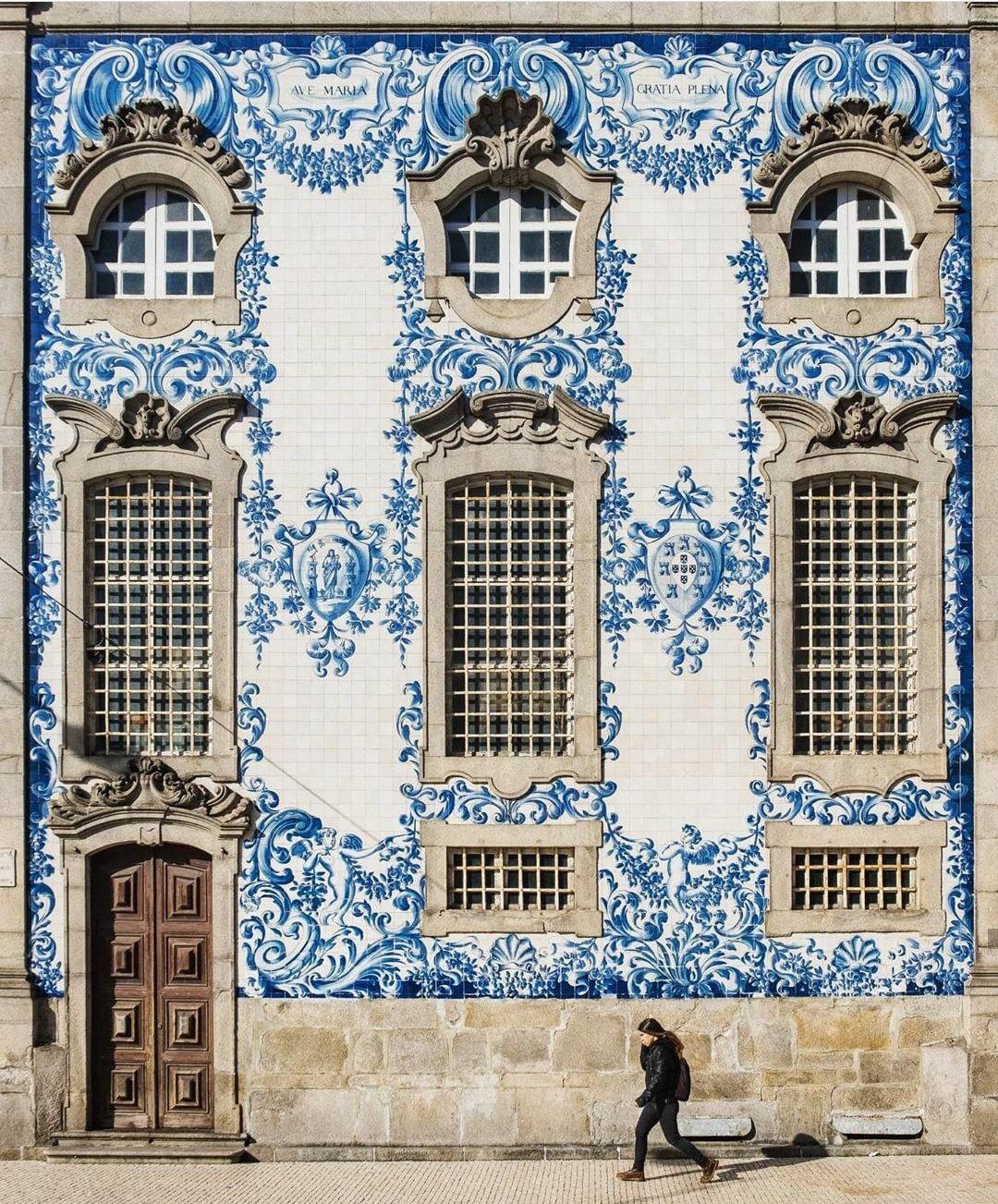 """Veranda Magazine on Instagram: """"Blue and white inspiration from the Igreja do Carmo in Porto ..."""