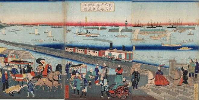 From Steam To Maglev Tjj Online Hiroshige Edo Japanese Artwork