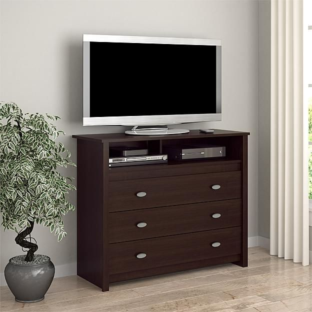 Essential Home Anderson Media Chest Dresser Entertainment Center