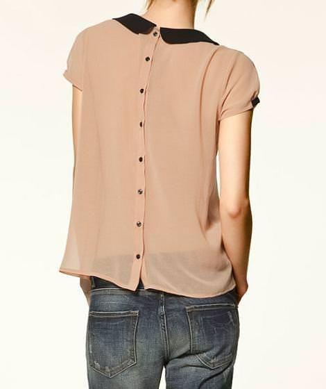 Tipo delantero Interprete referencia  Blusa con cuello bebé y botones en la espalda de Zara Trafaluc | Blusa con  cuello, Ropa, Blusa con botones
