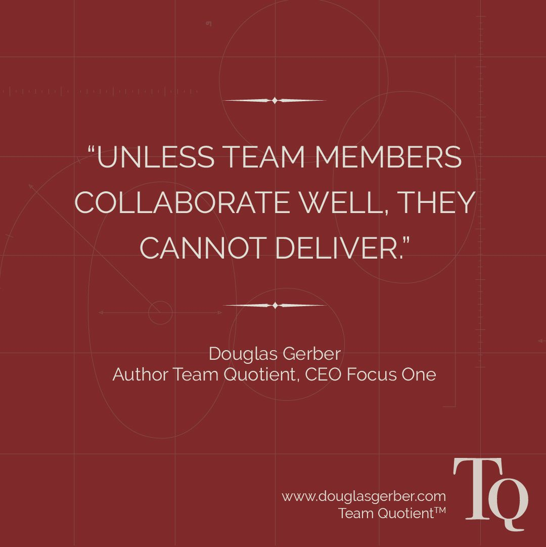 One fundamental behavior is collaboration  It's clear within