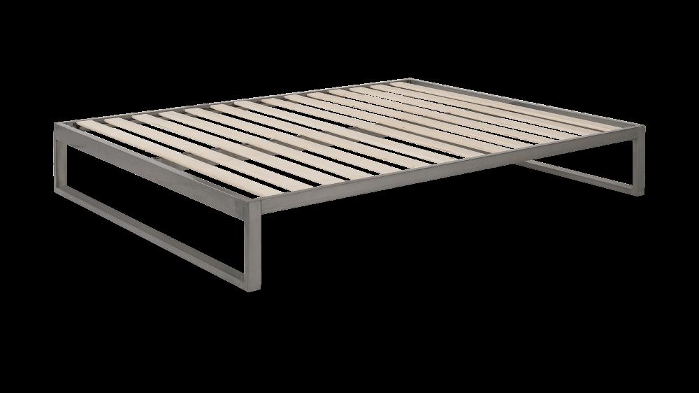Minimo Industrial Gunmetal Steel Bed Frame Queen 60 Steel