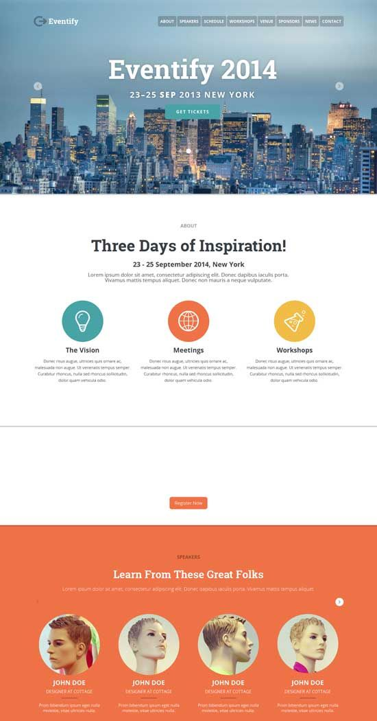 Eventify-One-Page-Conference-HTML5-Template Responsive Website