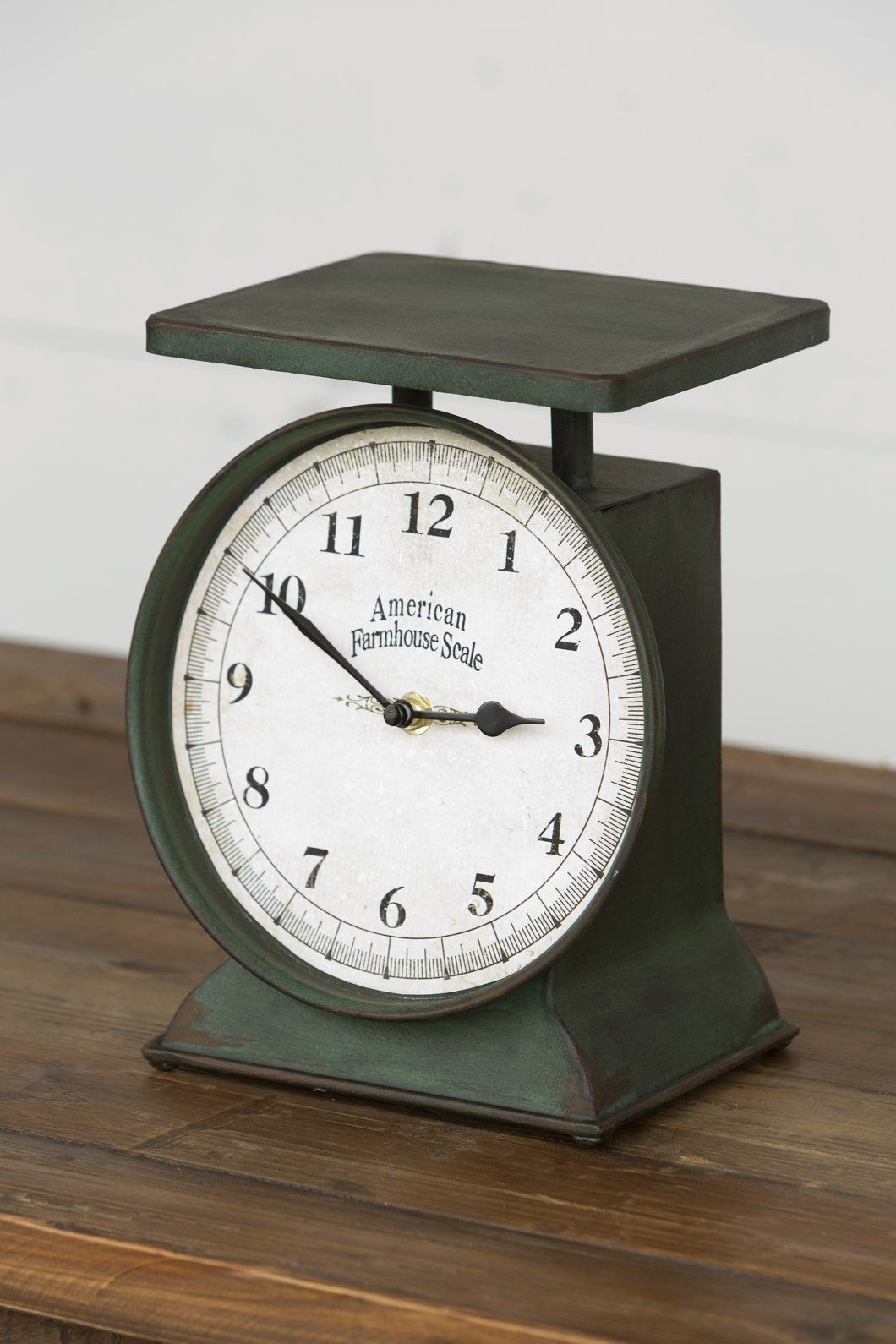 Vintage Inspired Farmhouse Scale Clock | Scale, Clocks and Vintage