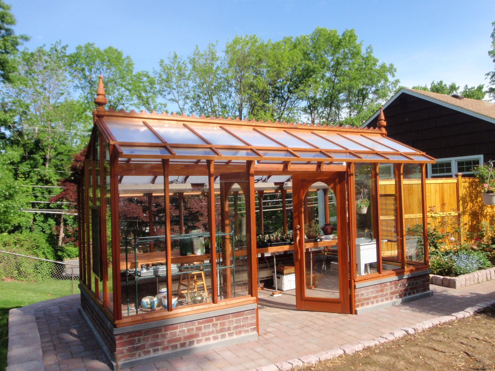 Superb Nantucket Greenhouse With Floor That Transitions Seamlessly To The  Surrounding Patio.