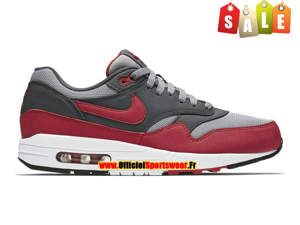 hot sale online e3179 f2558 Nike Air Max 1 87 Essential - Chaussures Nike Sportswear Pas Cher Homme Gris  loup